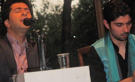 اجرای بداهه محمد معتمدی و پویا سرایی در افتتاحیه نمایشگاه خوشنویسی دستها و سطرهای مهربان