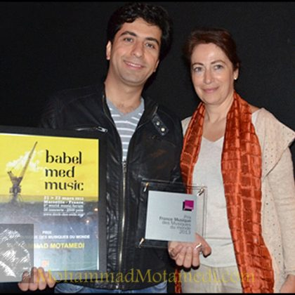 French World Music Award For Mohammad Motamedi Iranian Artist